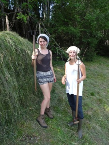 Kim (Netherlands) and Camille (France) also hard at work on the hay-racks. Both are wonderful people, and I am blessed to have to have worked closely with them on the farm.