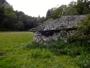 This old stone house captured my imagination almost immediately. The mortar gone, and half the shingles missing, the old stone structure lies teetering on the edge of collapse, but allows the subtle mountain winds to blow through and thus remains standing, a survivor.