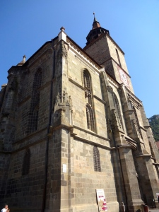 The Black Church of Brasov, so named from a massive fire the sprung up centuries ago and blackened its walls.