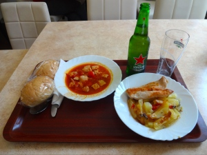 Fast food joint down the way from the hostel. For about $6 you get a heini and two plates - a real steal!